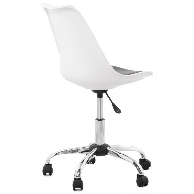 PAUL design office in polyurethane and chrome metal (white and black) Chair - image 20727