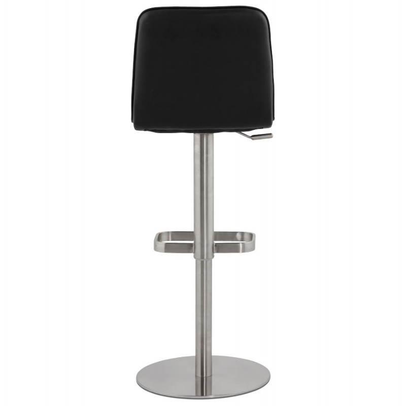 Tabouret de bar matelassé rotatif et réglable ANAIS (noir) - image 20742