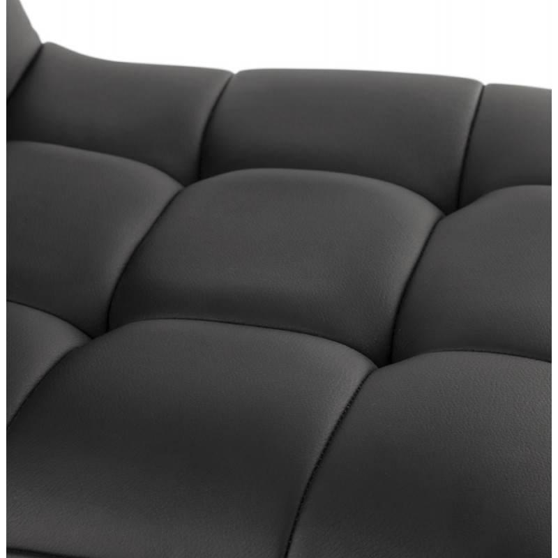 Tabouret de bar matelassé rotatif et réglable ANAIS (noir) - image 20744