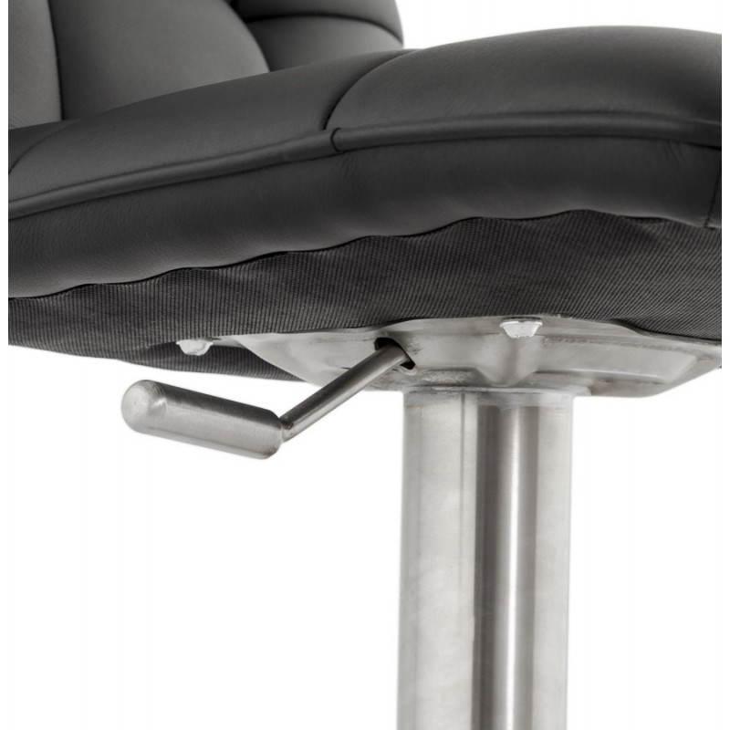 Tabouret de bar matelassé rotatif et réglable ANAIS (noir) - image 20748