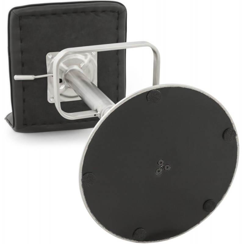 Tabouret de bar matelassé rotatif et réglable ANAIS (noir) - image 20756