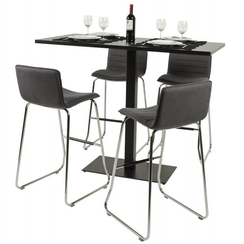 tabouret de bar matelass anais tissu et m tal chrom. Black Bedroom Furniture Sets. Home Design Ideas