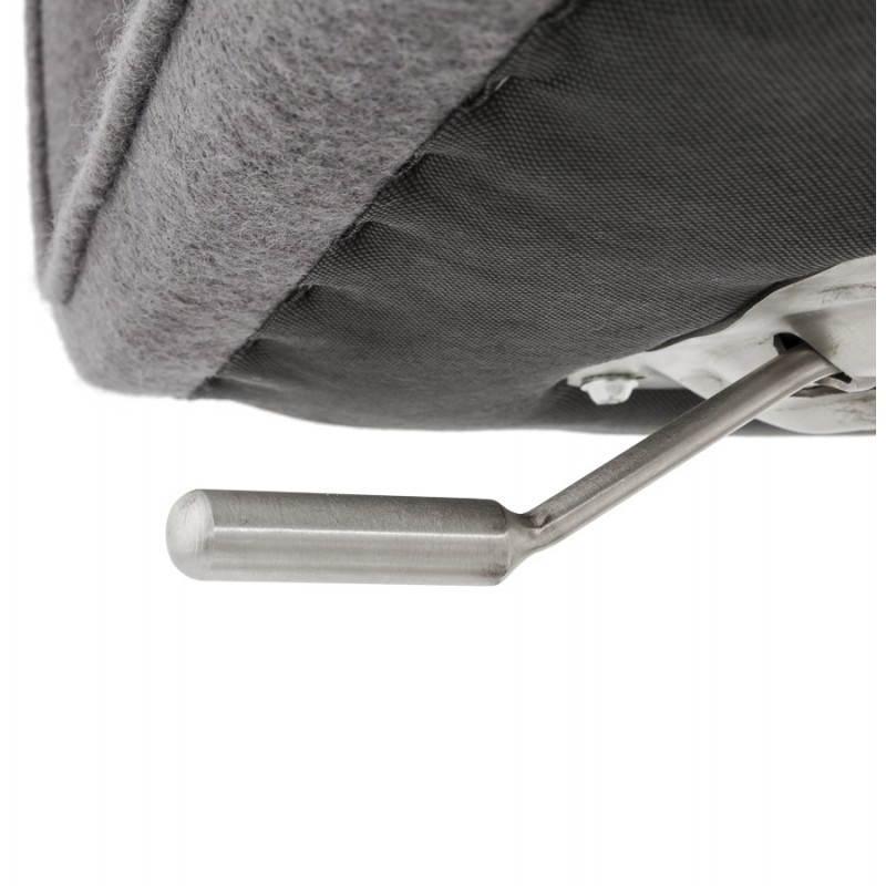 Tabouret de bar design MARGO en tissu et métal brossé (gris foncé) - image 20933