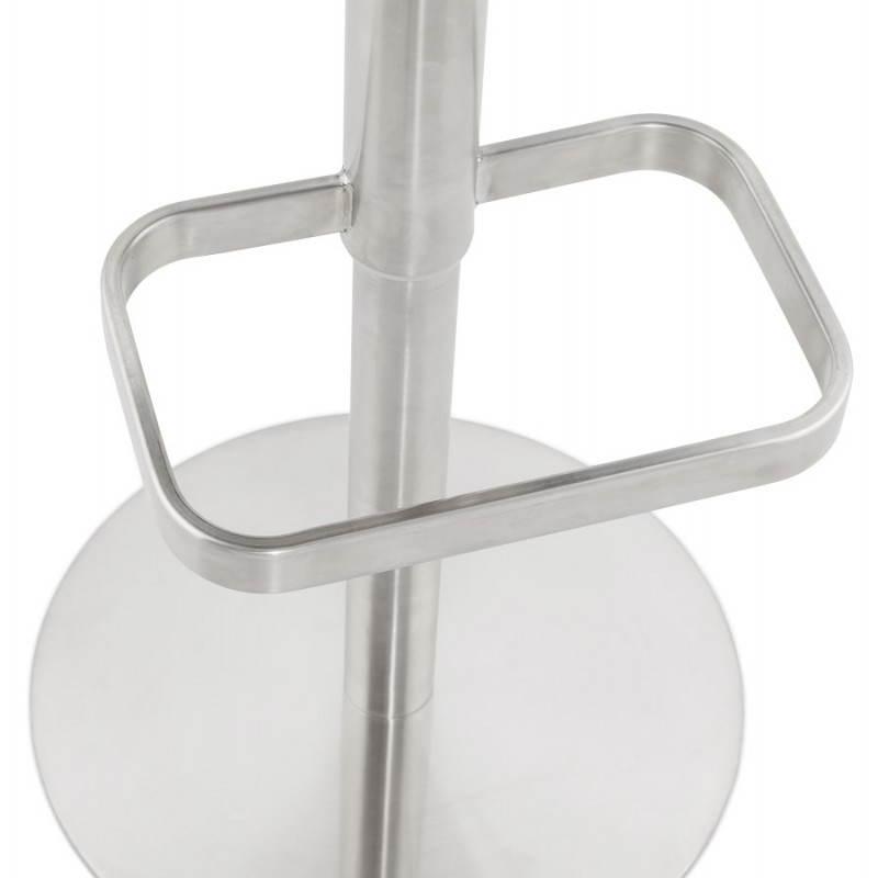 Tabouret de bar design MARGO en tissu et métal brossé (gris foncé) - image 20935