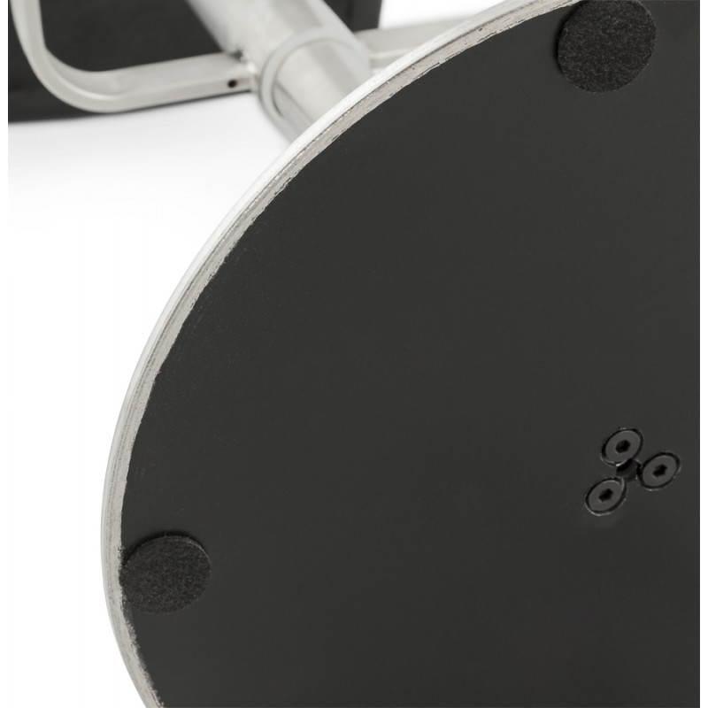 Tabouret de bar design MARGO en tissu et métal brossé (gris foncé) - image 20938