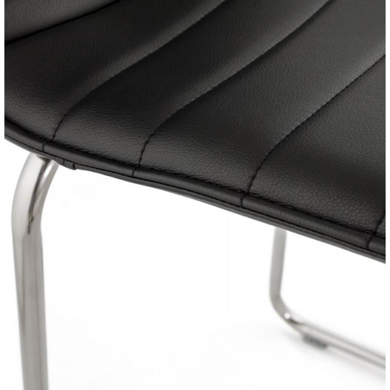 Tabouret de bar design matelassé MARGO (noir) - image 20946