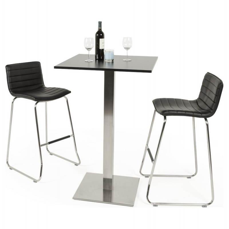 Tabouret de bar design matelassé MARGO (noir) - image 20952