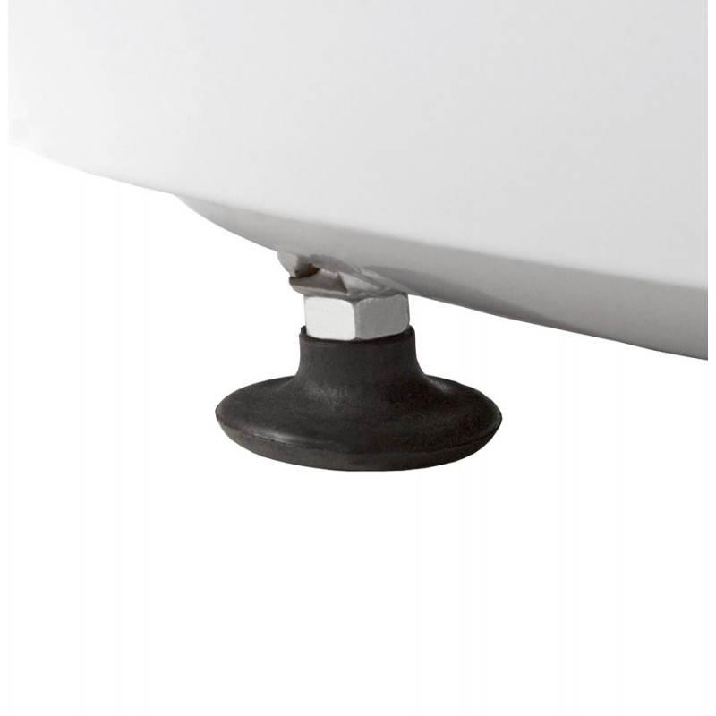 BOULE Sillón moderno de corte minimalista giratorias pies ajustables (rojo blanco) - image 20971