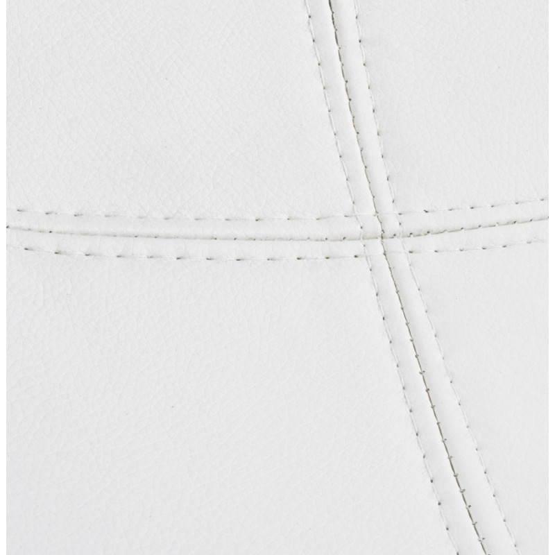 BOULE Sillón moderno de corte minimalista giratorias pies ajustables (blanco) - image 20976