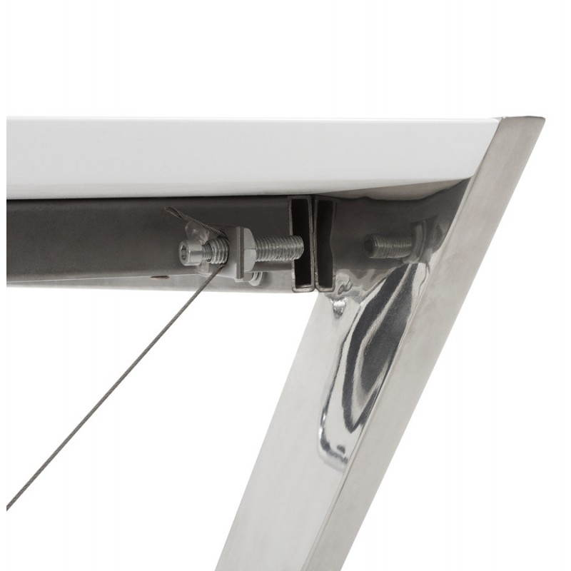 Office design Greece in lacquered wood and chrome metal (white) - image 20997