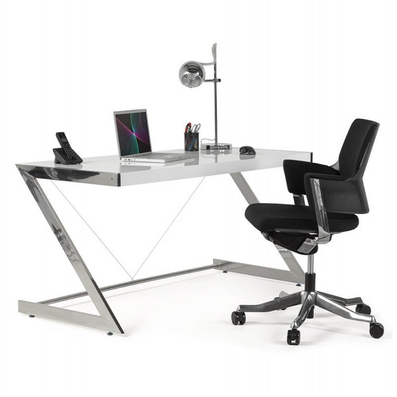 Office design Greece in lacquered wood and chrome metal (white) - image 20999