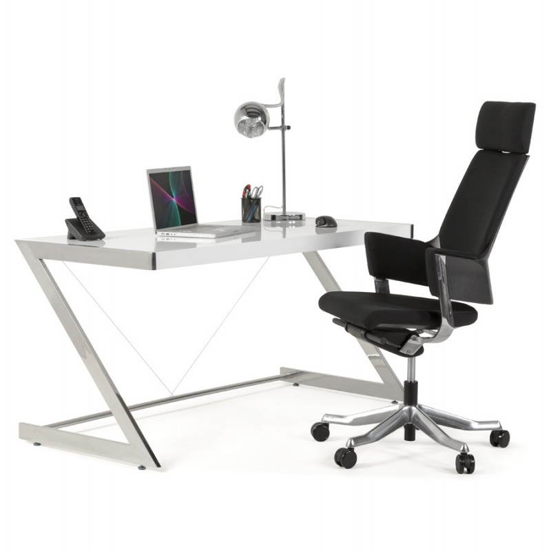 Office design Greece in lacquered wood and chrome metal (white) - image 21000