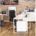 Ecke Fidschi in lackiertem Holz und lackierten Metall (weiß) Büro-Design