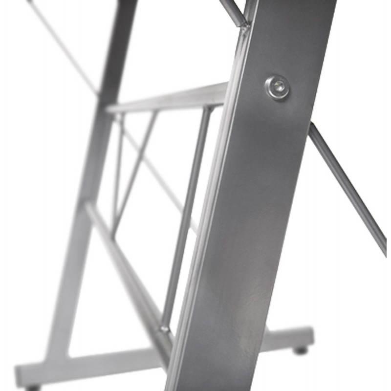 Bureau d'angle design CHILI en acier et verre sécurit teinté (blanc) - image 21047