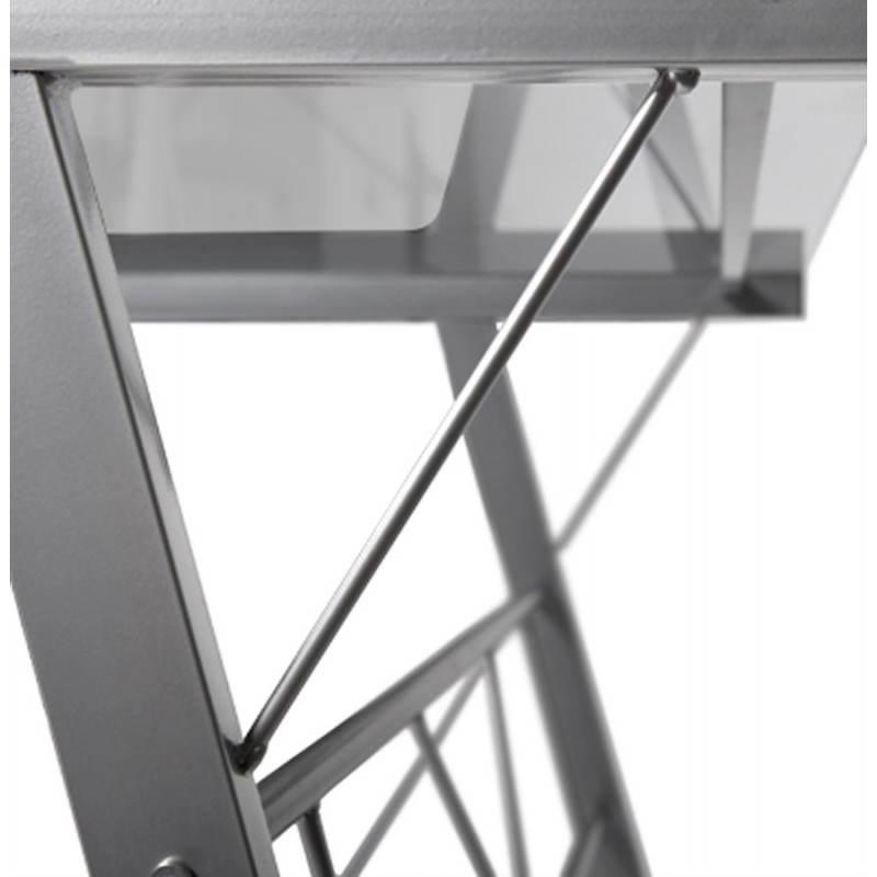 Bureau d'angle design CHILI en acier et verre sécurit teinté (transparent) - image 21064