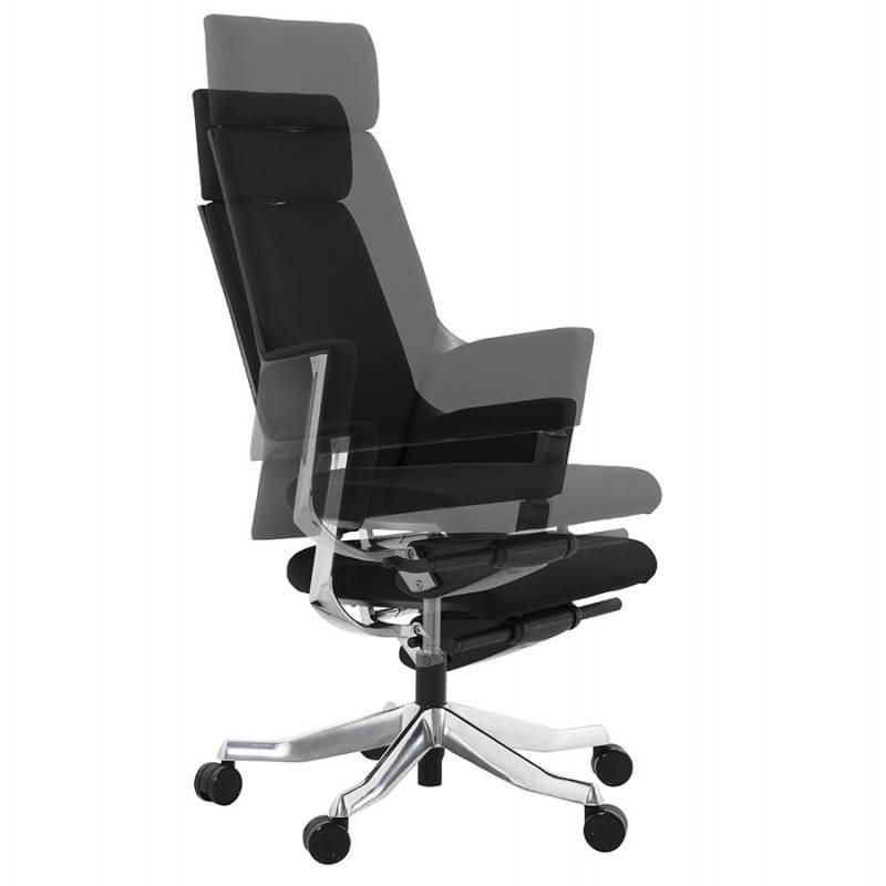 fauteuil de bureau design ergonomique barbades en tissu noir. Black Bedroom Furniture Sets. Home Design Ideas
