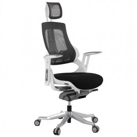 Ergonomic design office BAHAMAS (black) fabric armchair