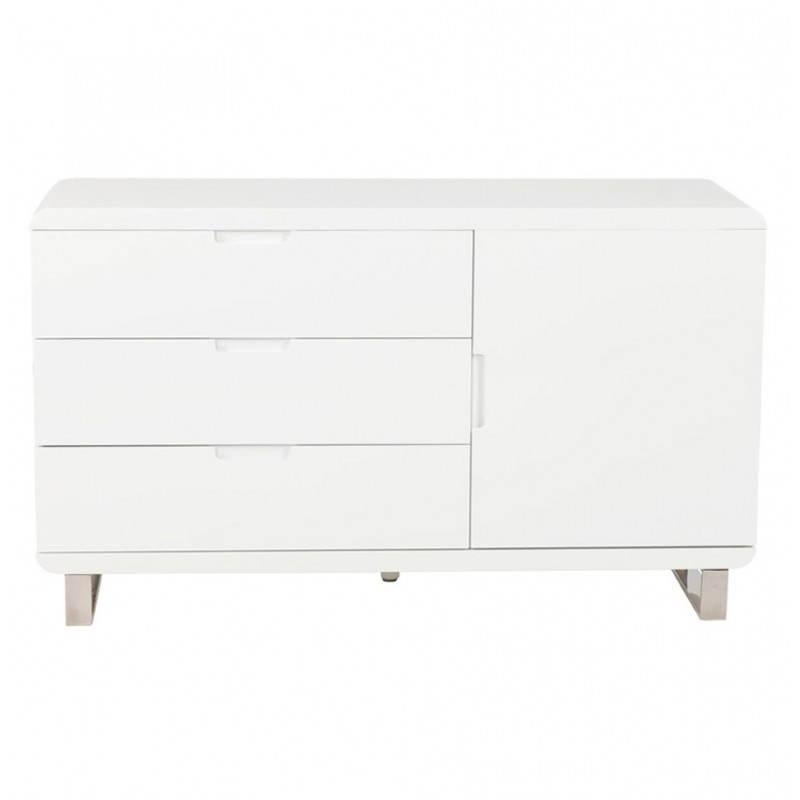 Meuble de rangement bas CORSE en bois laqué (blanc) - image 21159