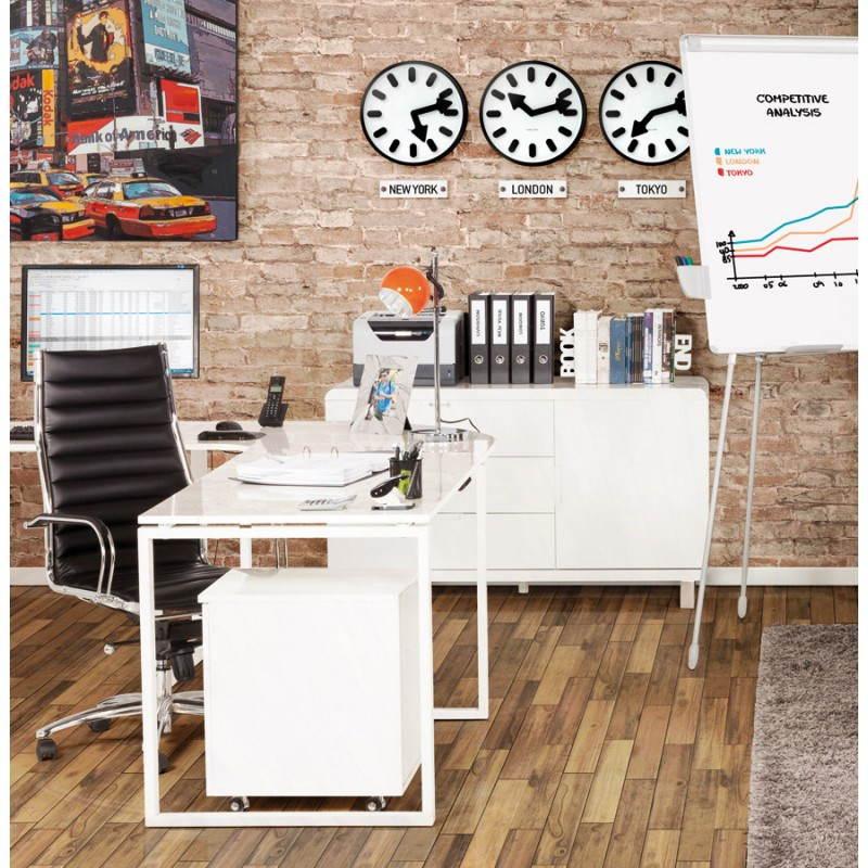 meuble de rangement bas corse en bois laqu blanc. Black Bedroom Furniture Sets. Home Design Ideas
