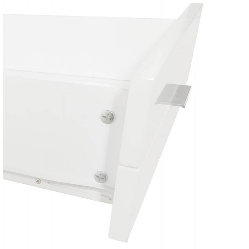 Meuble TV PORQUEROLLES en bois laqué (blanc) - image 21171