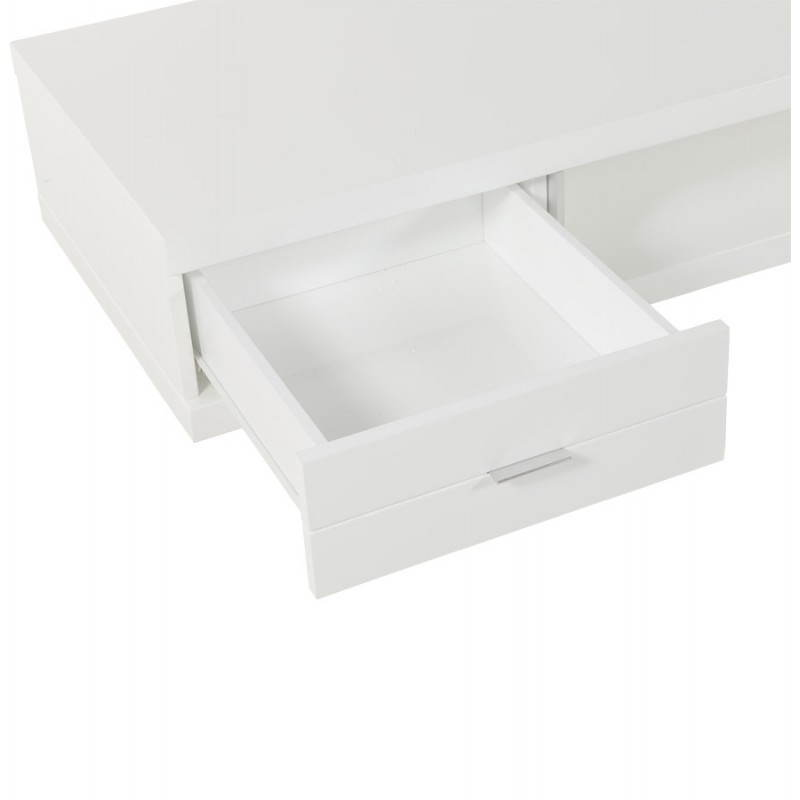 Meuble TV PORQUEROLLES en bois laqué (blanc) - image 21176