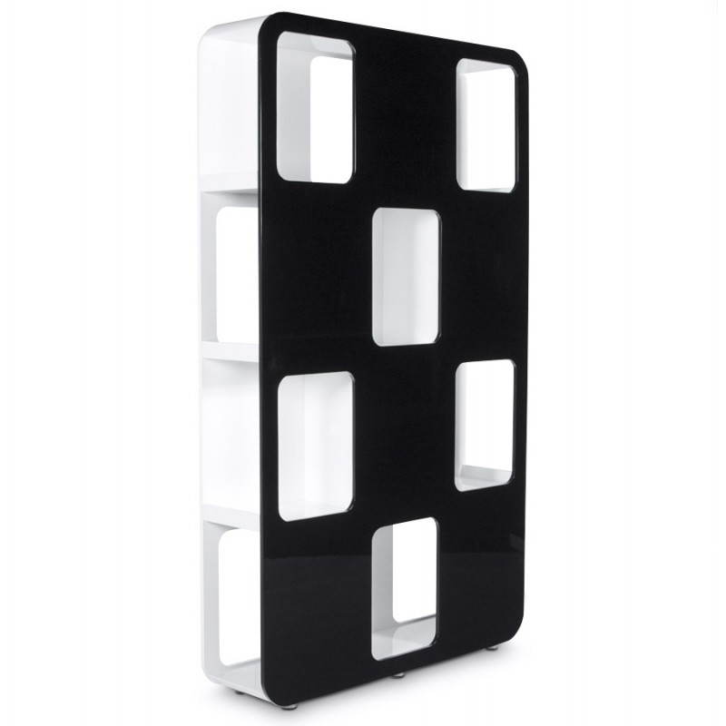 Shelf or screen LAGOON lacquered wooden (black and white) - image 21185