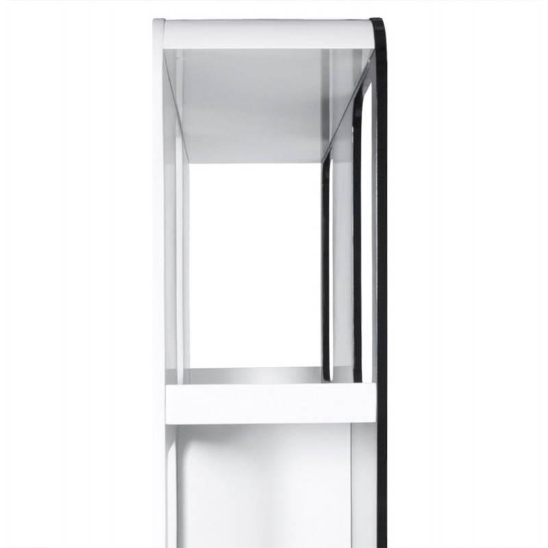 regal oder bildschirm lagune lackiert aus holz schwarz und wei. Black Bedroom Furniture Sets. Home Design Ideas