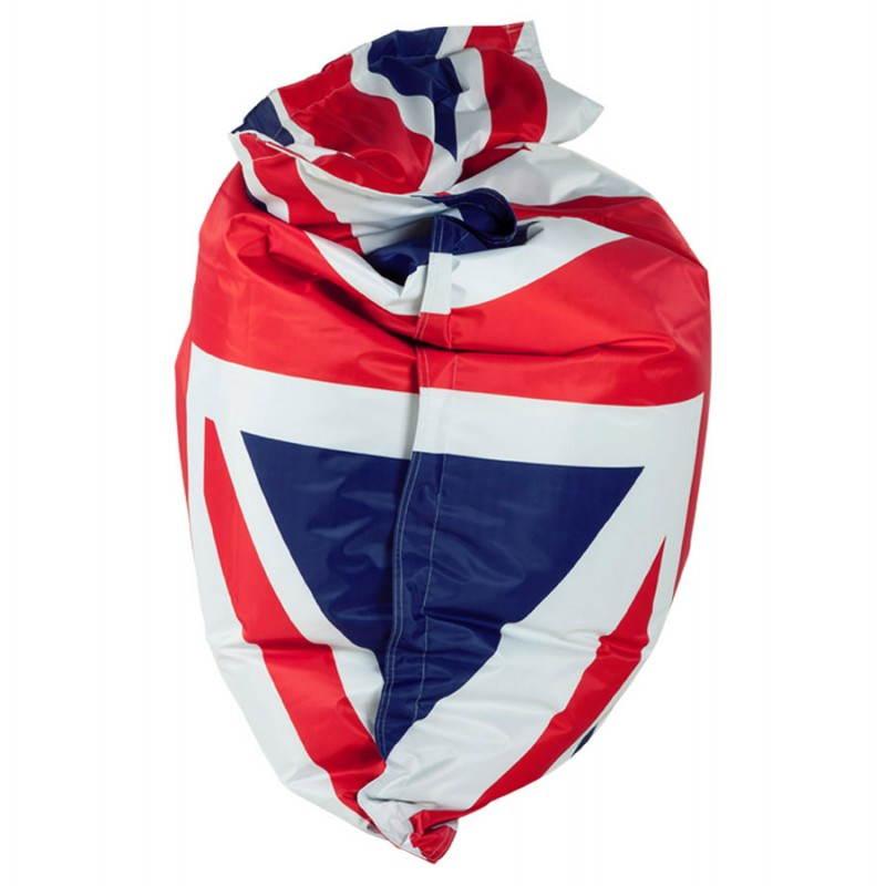Pouf rectangulaire géant MILLOT UK en textile (bleu, blanc et rouge) - image 21203