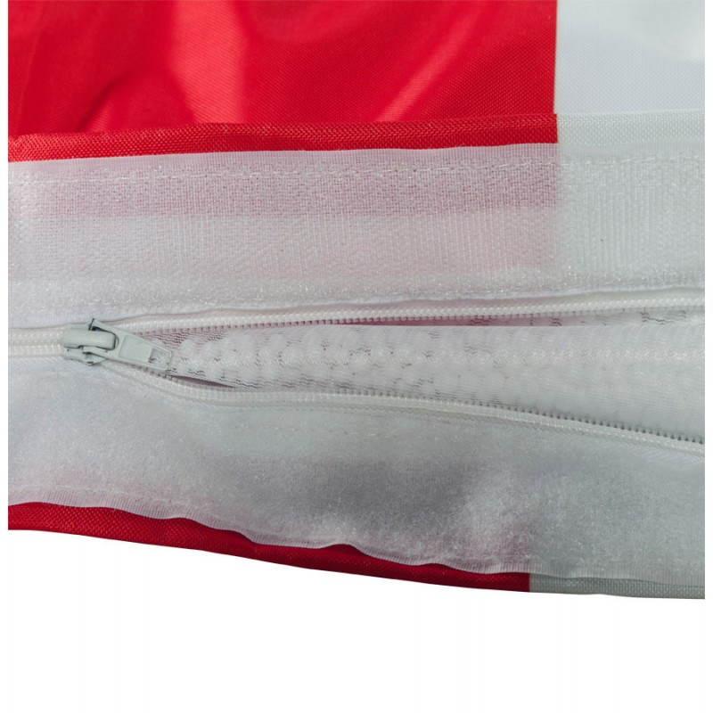 Pouf rectangulaire géant MILLOT UK en textile (bleu, blanc et rouge) - image 21205