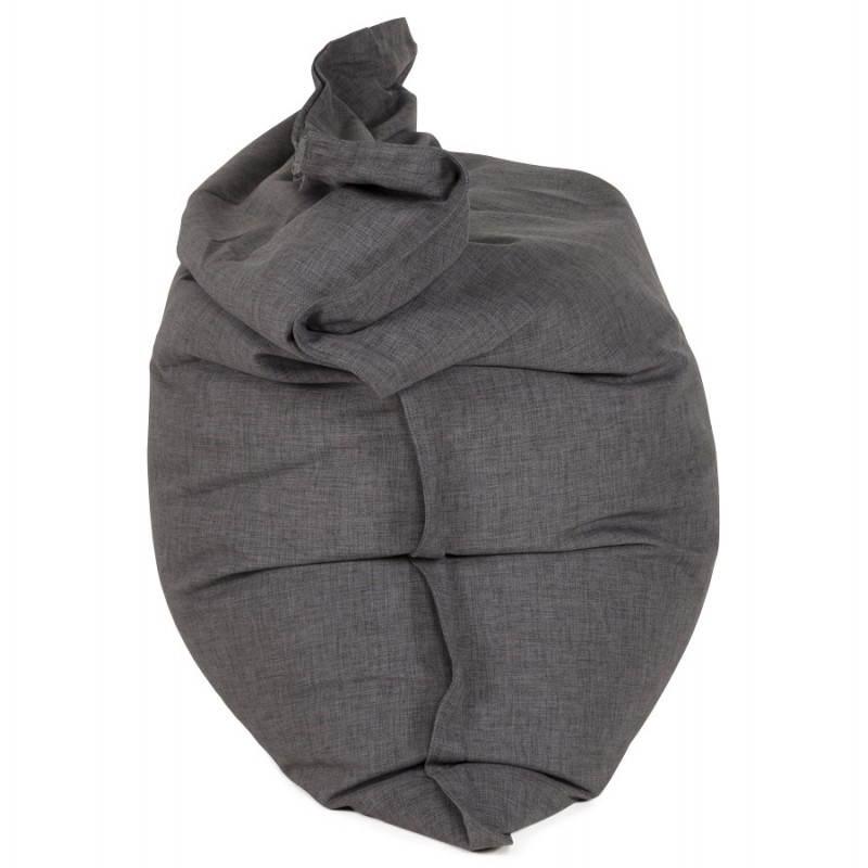 Pouf rectangulaire SALIN en textile (gris foncé) - image 21211