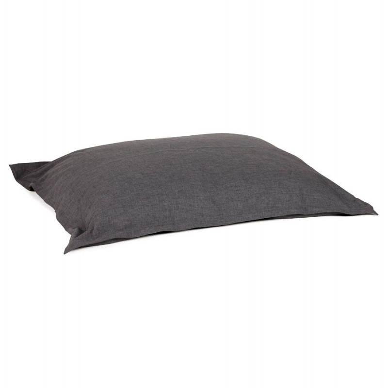 Pouf rectangulaire SALIN en textile (gris foncé) - image 21212