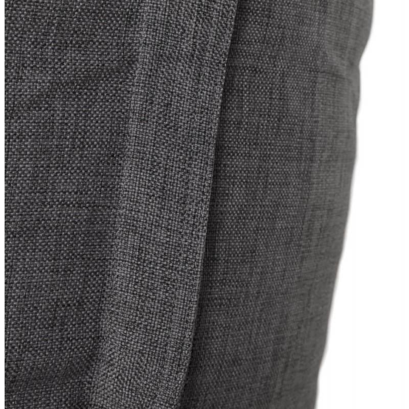 Pouf rectangulaire SALIN en textile (gris foncé) - image 21215