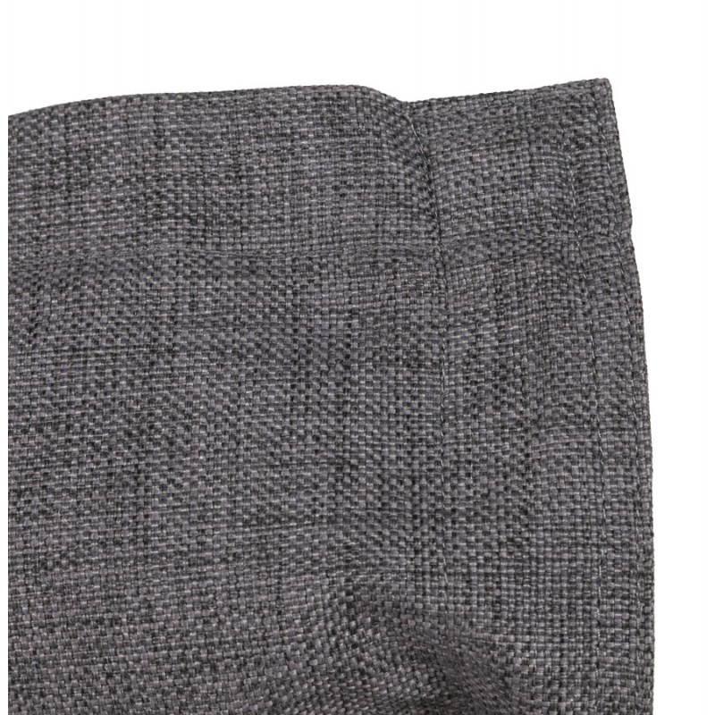 Pouf rectangulaire SALIN en textile (gris foncé) - image 21216