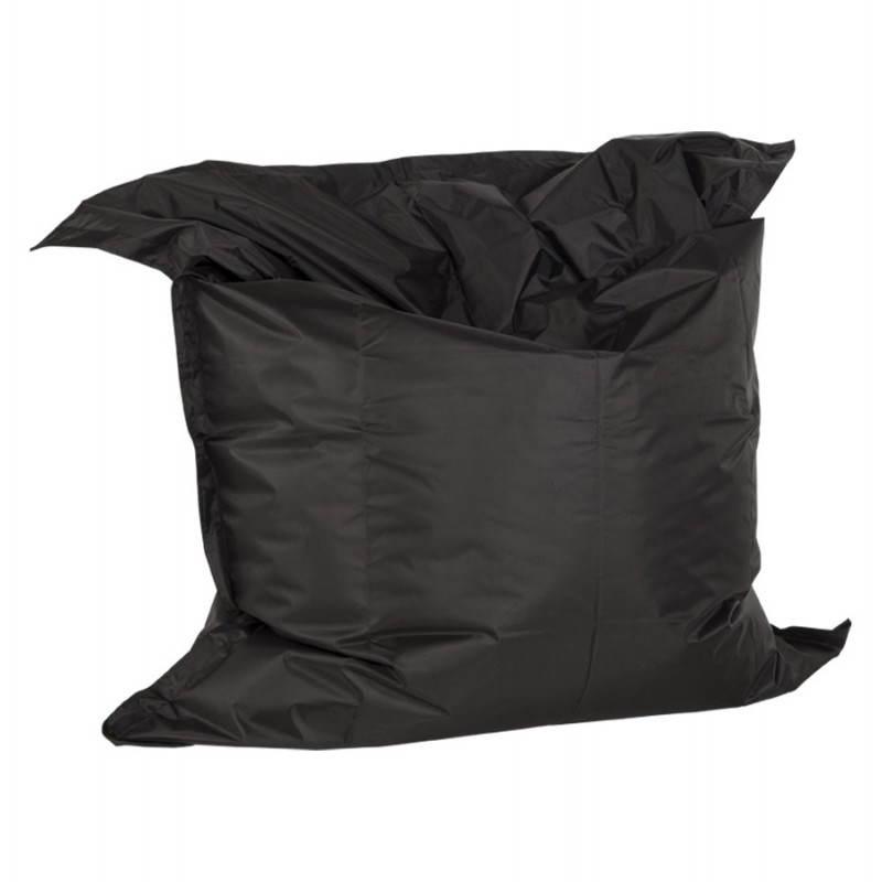Pouf rectangulaire JANOT en textile (noir) - image 21220