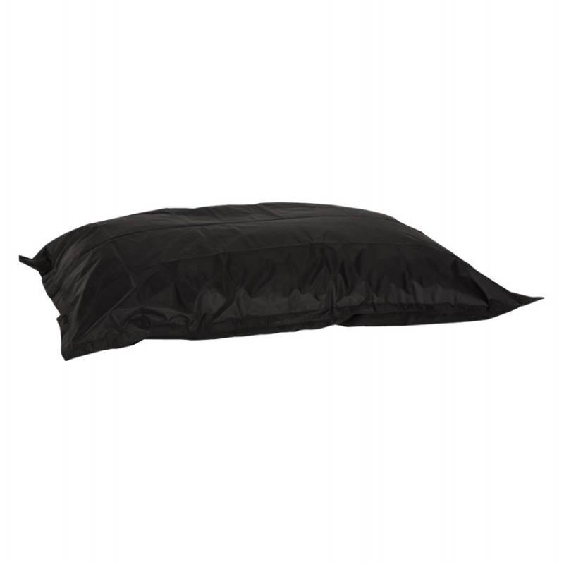 Pouf rectangulaire JANOT en textile (noir) - image 21222