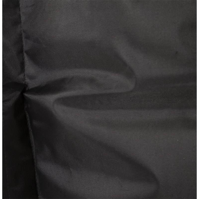 Pouf rectangulaire JANOT en textile (noir) - image 21225