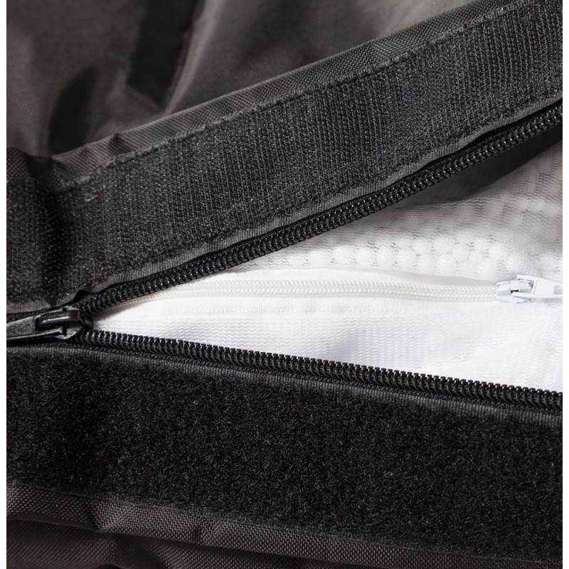 Pouf rectangulaire JANOT en textile (noir) - image 21227