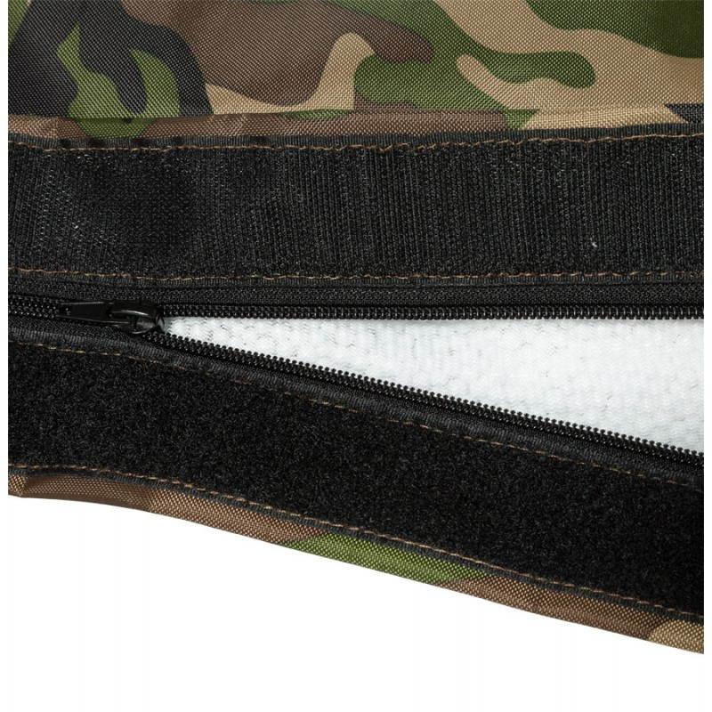 Pouf rectangulaire JANOT en textile (camouflé) - image 21233