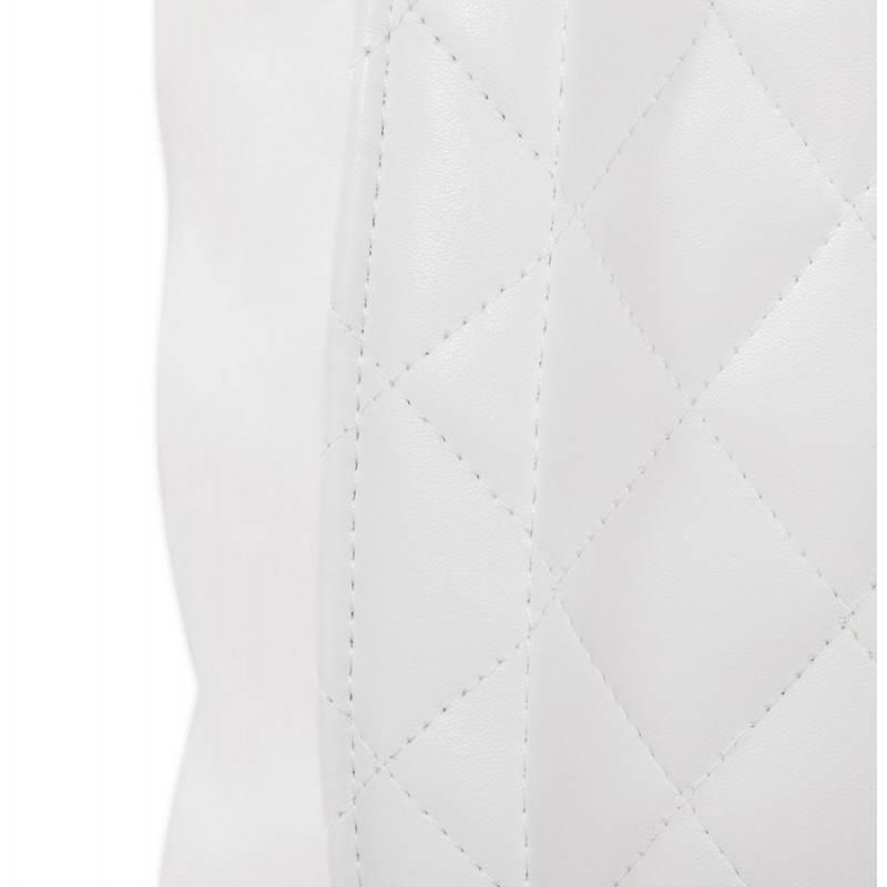 Pouf rectangulaire LILIAN  en textile polyuréthane (blanc) - image 21240