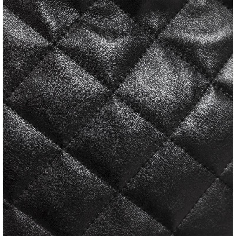 Pouf rectangulaire LILIAN en textile polyuréthane (noir) - image 21250