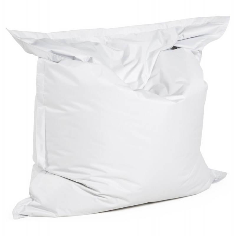 Pouf rectangulaire MILLOT en textile (blanc) - image 21254