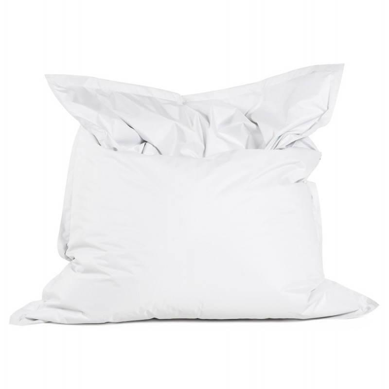 Pouf rectangulaire MILLOT en textile (blanc) - image 21255