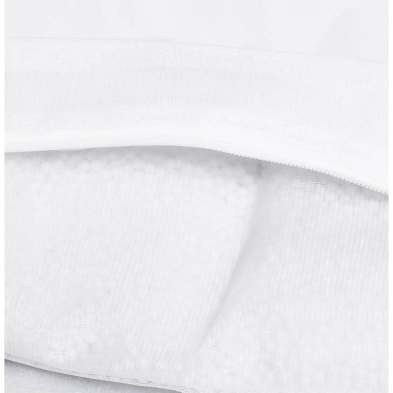 Pouf rectangulaire MILLOT en textile (blanc) - image 21261
