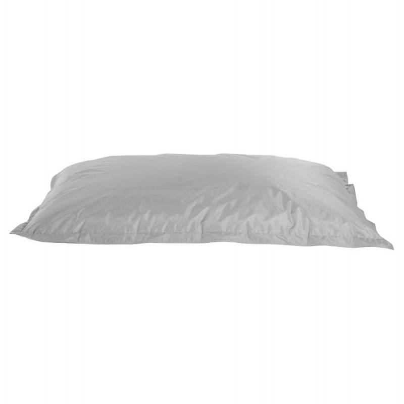 Pouf rectangulaire MILLOT en textile (gris) - image 21266