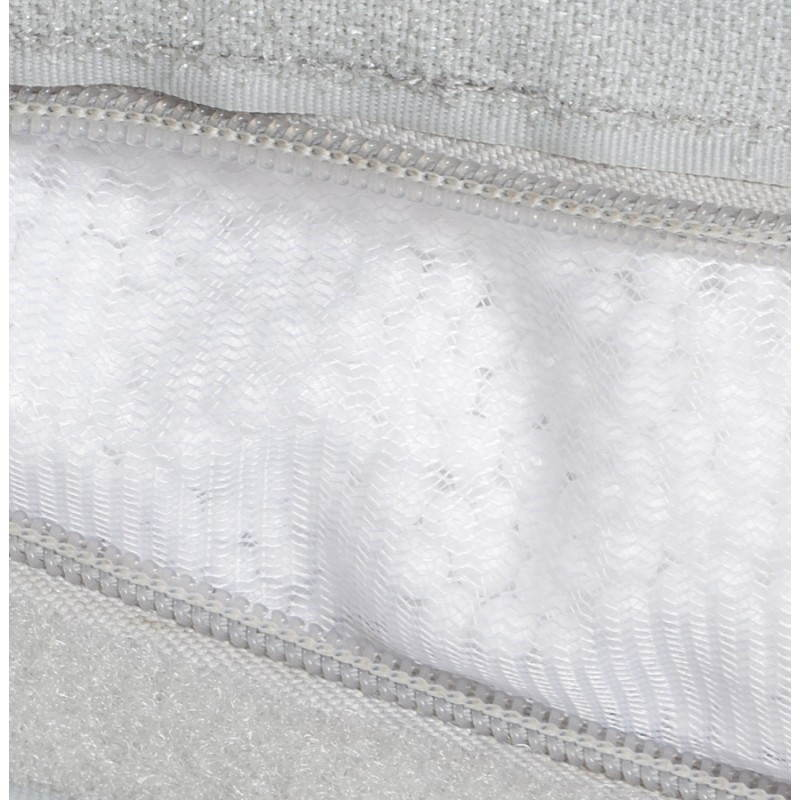 Pouf rectangulaire MILLOT en textile (gris) - image 21270