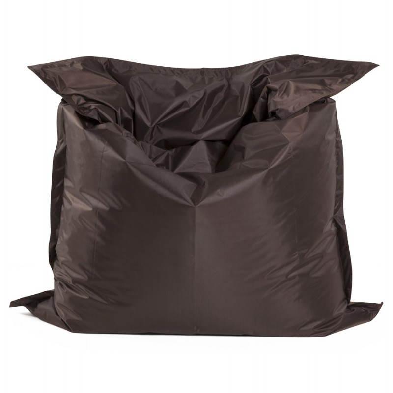 Pouf rectangulaire MILLOT en textile (marron) - image 21272