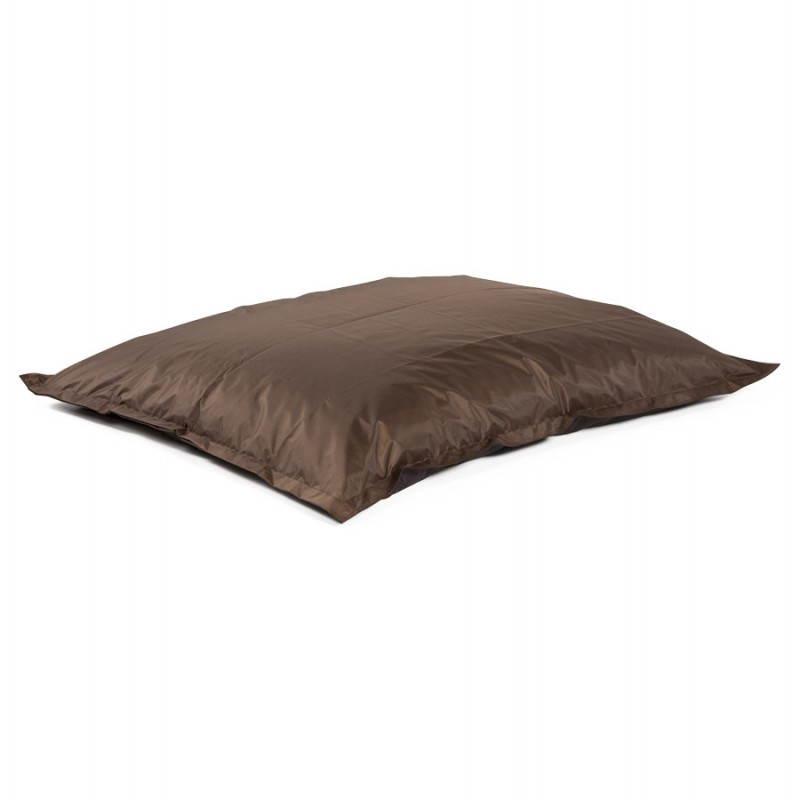 Pouf rectangulaire MILLOT en textile (marron) - image 21275
