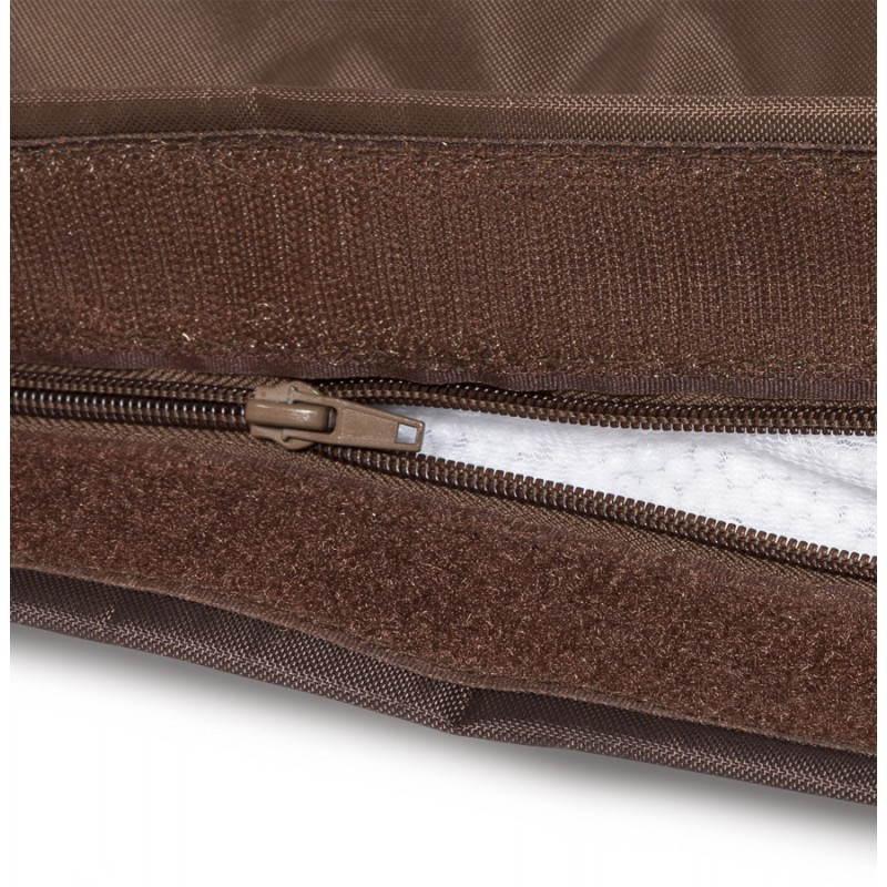 Pouf rectangulaire MILLOT en textile (marron) - image 21279