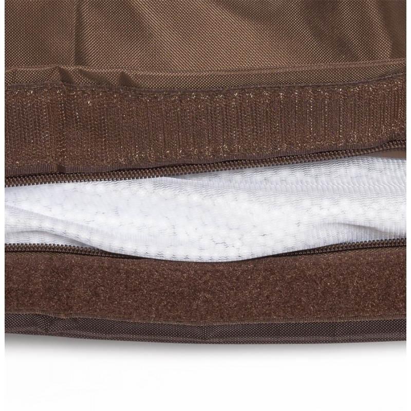 Pouf rectangulaire MILLOT en textile (marron) - image 21280