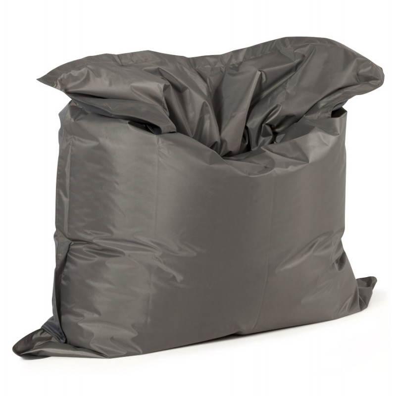 Puff rectangular MILLOT textile (dark grey) - image 21282